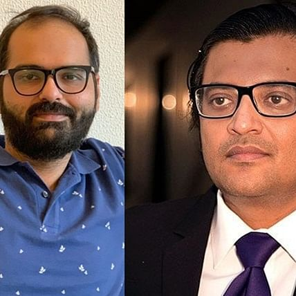 'Arnab Maunswami': Twitter divided as Kunal Kamra heckles Arnab Goswami on a flight