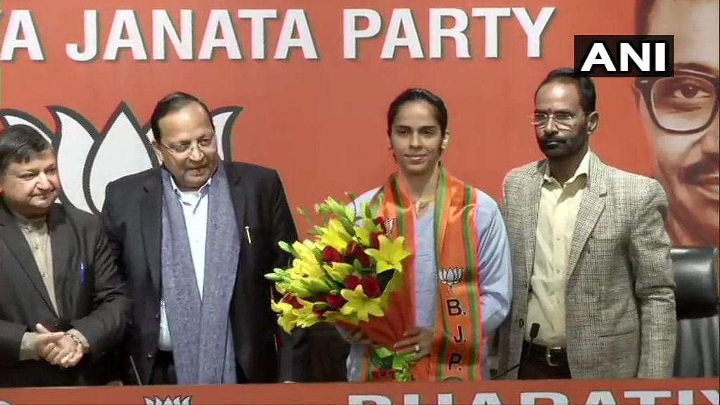 Saina Nehwal joins BJP