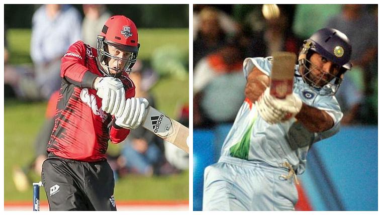 Leo Carter (L) Yuvraj Singh (R)