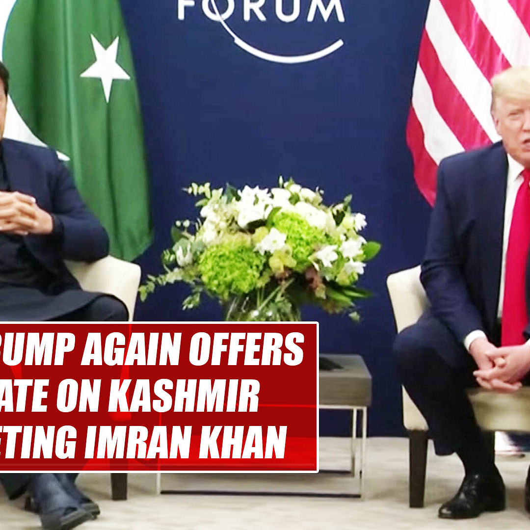 Donald Trump again offers to mediate on Kashmir after meeting Imran Khan