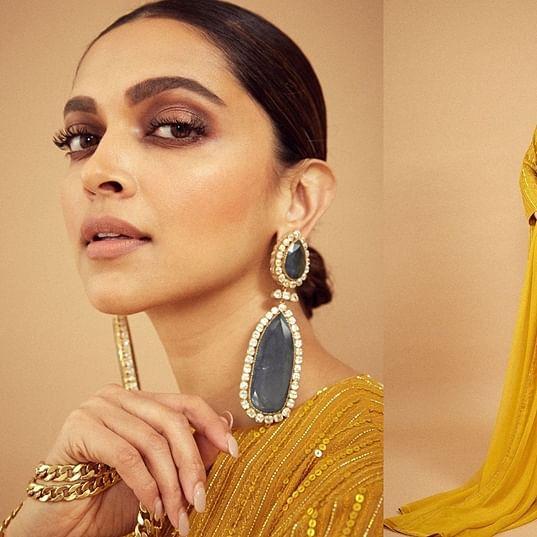 Deepika Padukone's bright yellow Sabyasachi outfit will drive away your Monday blues