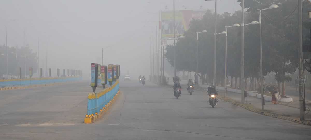 Indoreans woke up to a foggy morning on Saturday