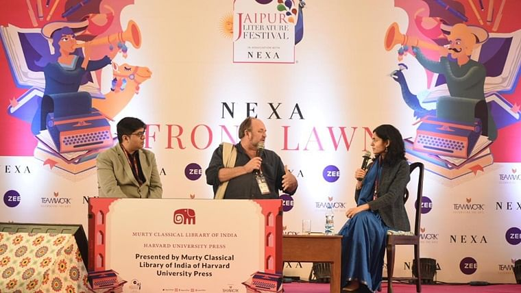 The session saw William Dalrymple in a conversation with author Supriya Gandhi and journalist and author Manimugdha Sharma