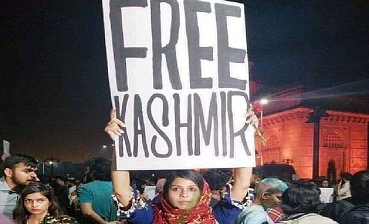 'Marathi girl lamented plight of Kashmiris peacefully': Uddhav backs protester who held up 'Free Kashmir' poster