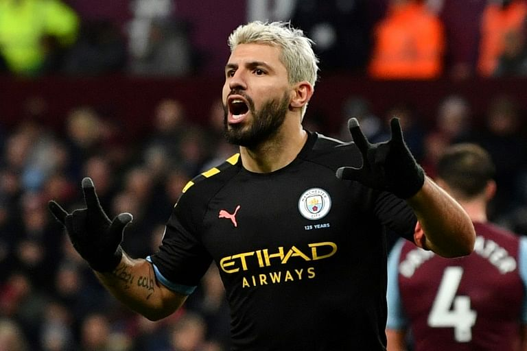 Manchester City striker Kun Aguero hit a hattrick against Aston Villa in a 6-1 demolition.