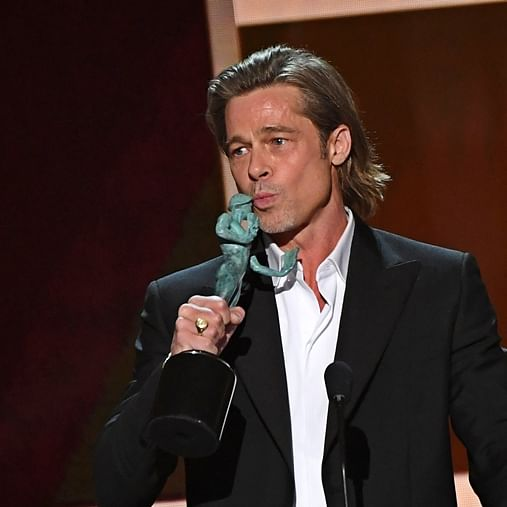 'I've got to add this to my Tinder profile': Brad Pitt's hilarious acceptance speech at SAG Awards