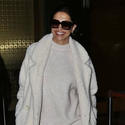 In pics: Deepika Padukone's oversized knitwear can fit two