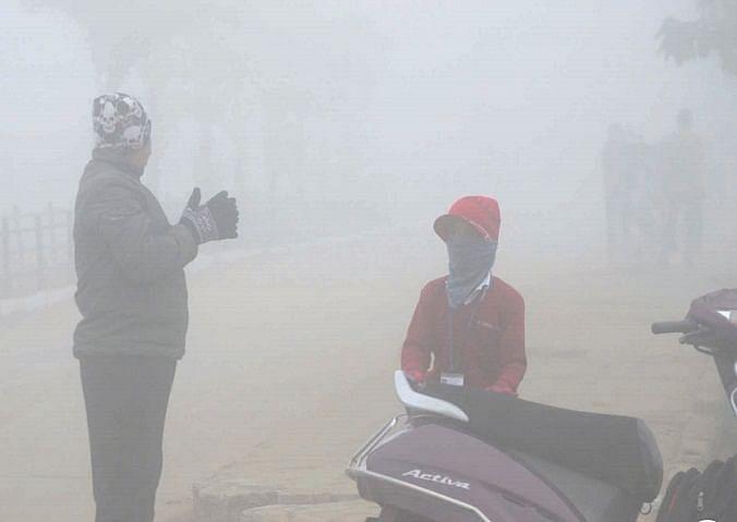Bhopal: Foggy weather greets on Makar Sankranti