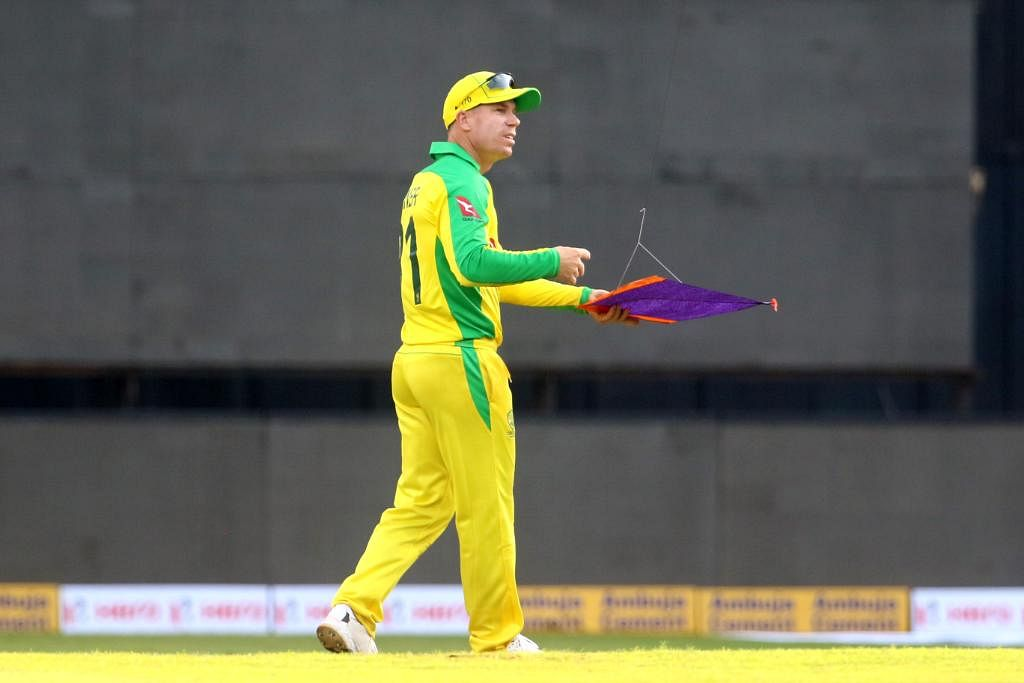 Davdi Warner with a kite