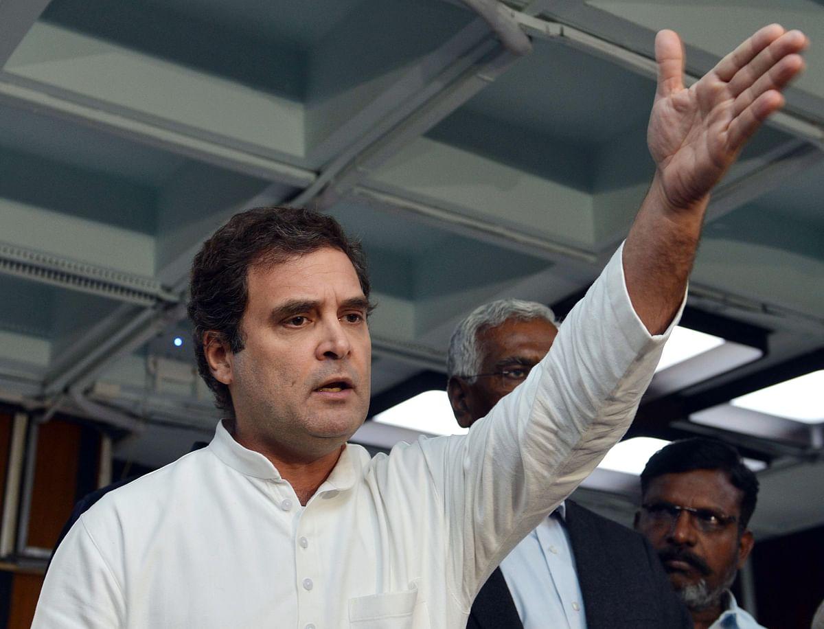 Indian National Congress leader Rahul Gandhi