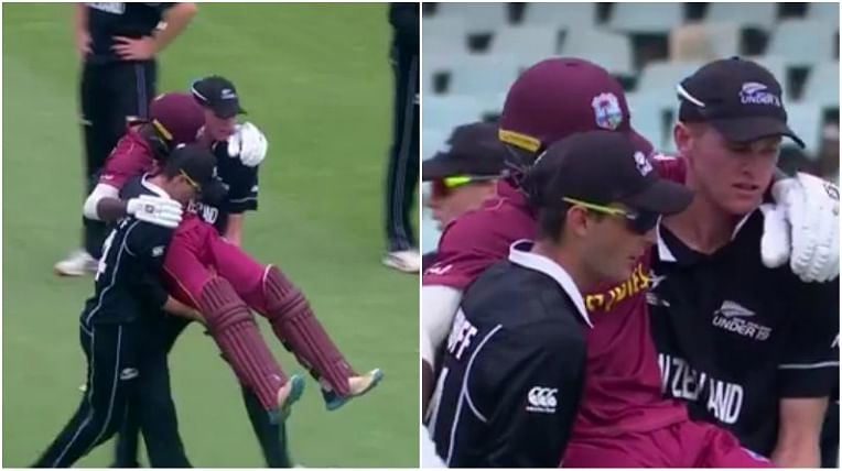 U-19 World Cup: Kiwis show spirit of cricket by carrying injured Windies player off the pitch