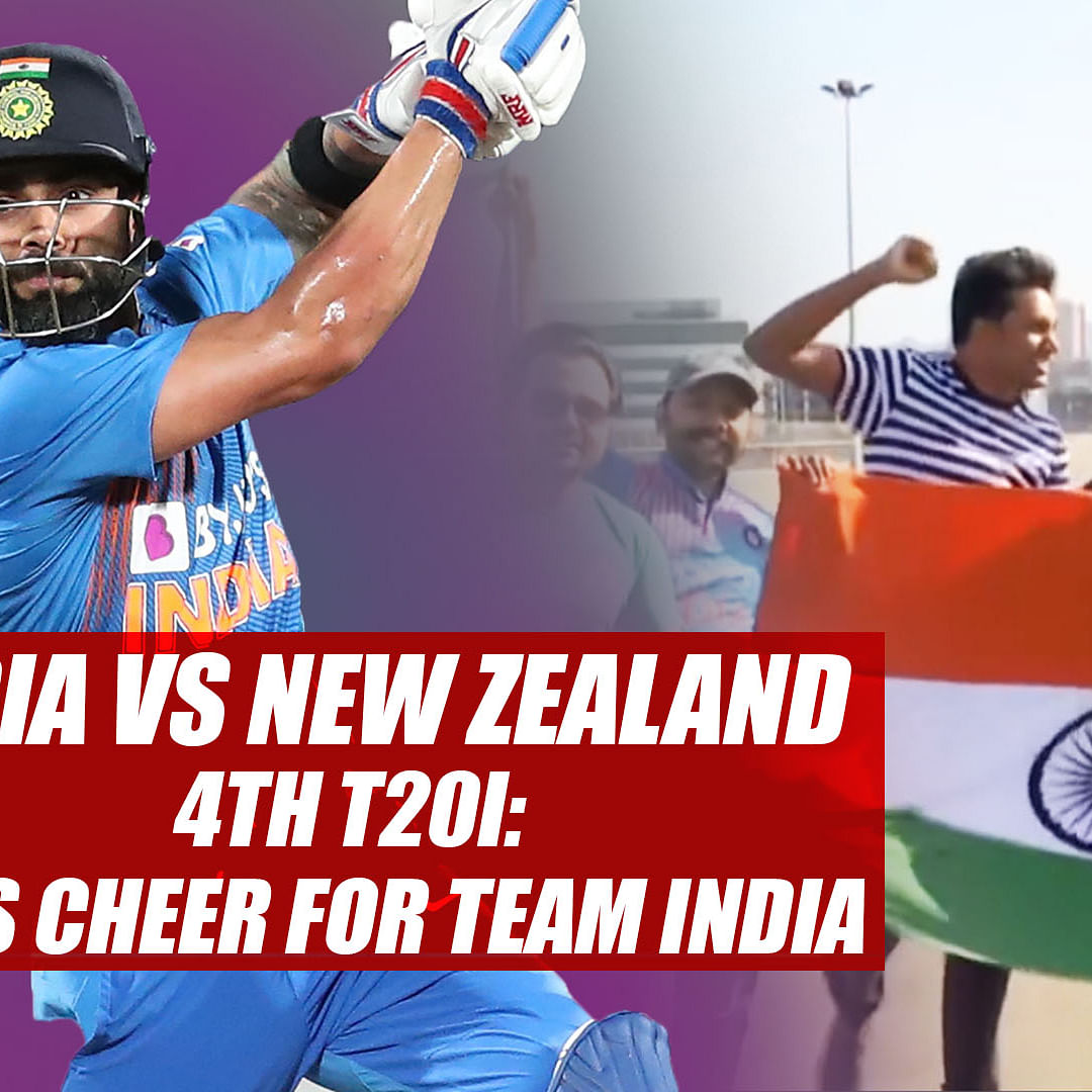 India vs New Zealand 4th T20I: Fans cheer for team India in Wellington
