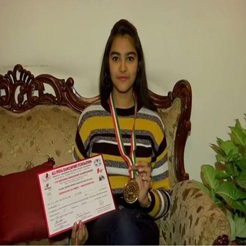 Haryana: Class 10 girl Sahira Jain bags gold in National Dance Sport Championship