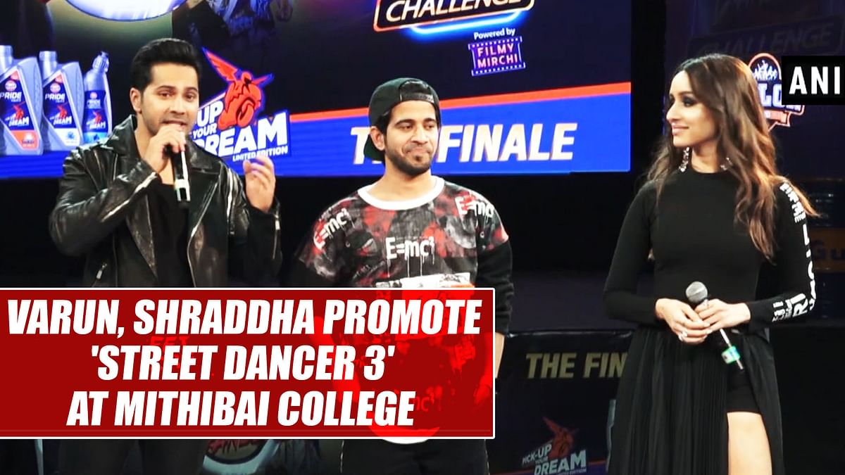 Varun, Shraddha promote 'Street Dancer 3' at Mithibai College