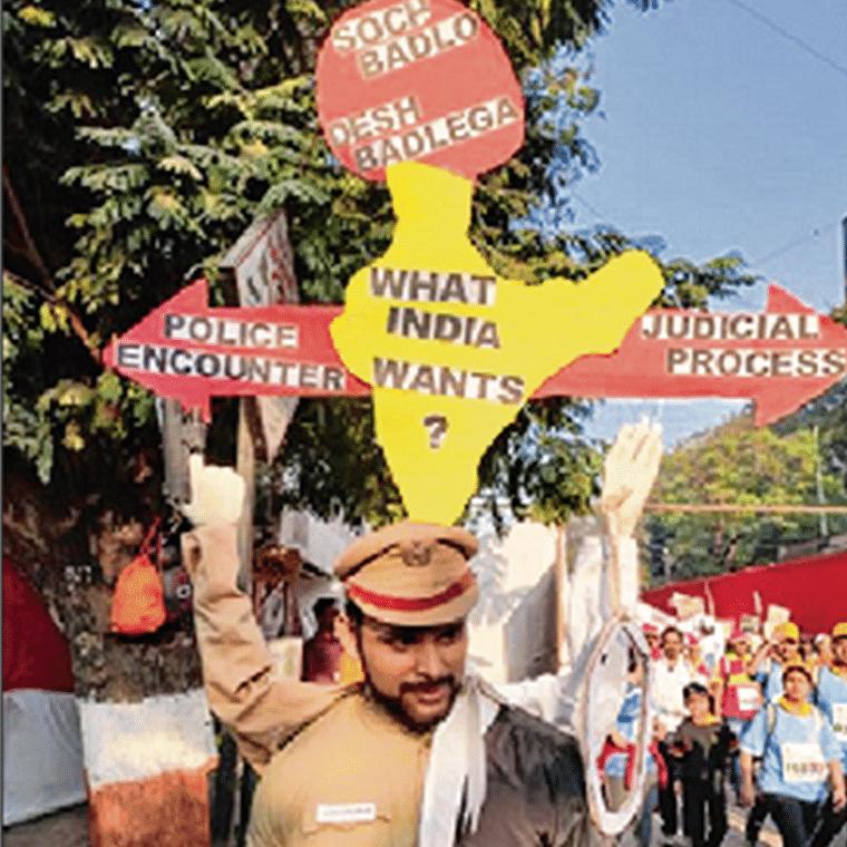 For India's betterment: Creative marathoner highlights a bitter reality