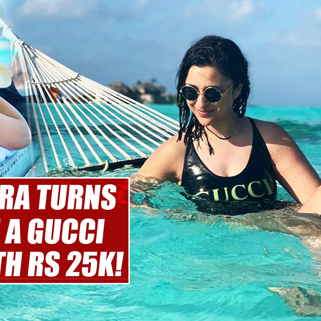 Parineeti Chopra turns water baby in a Gucci swimsuit worth Rs 25K!