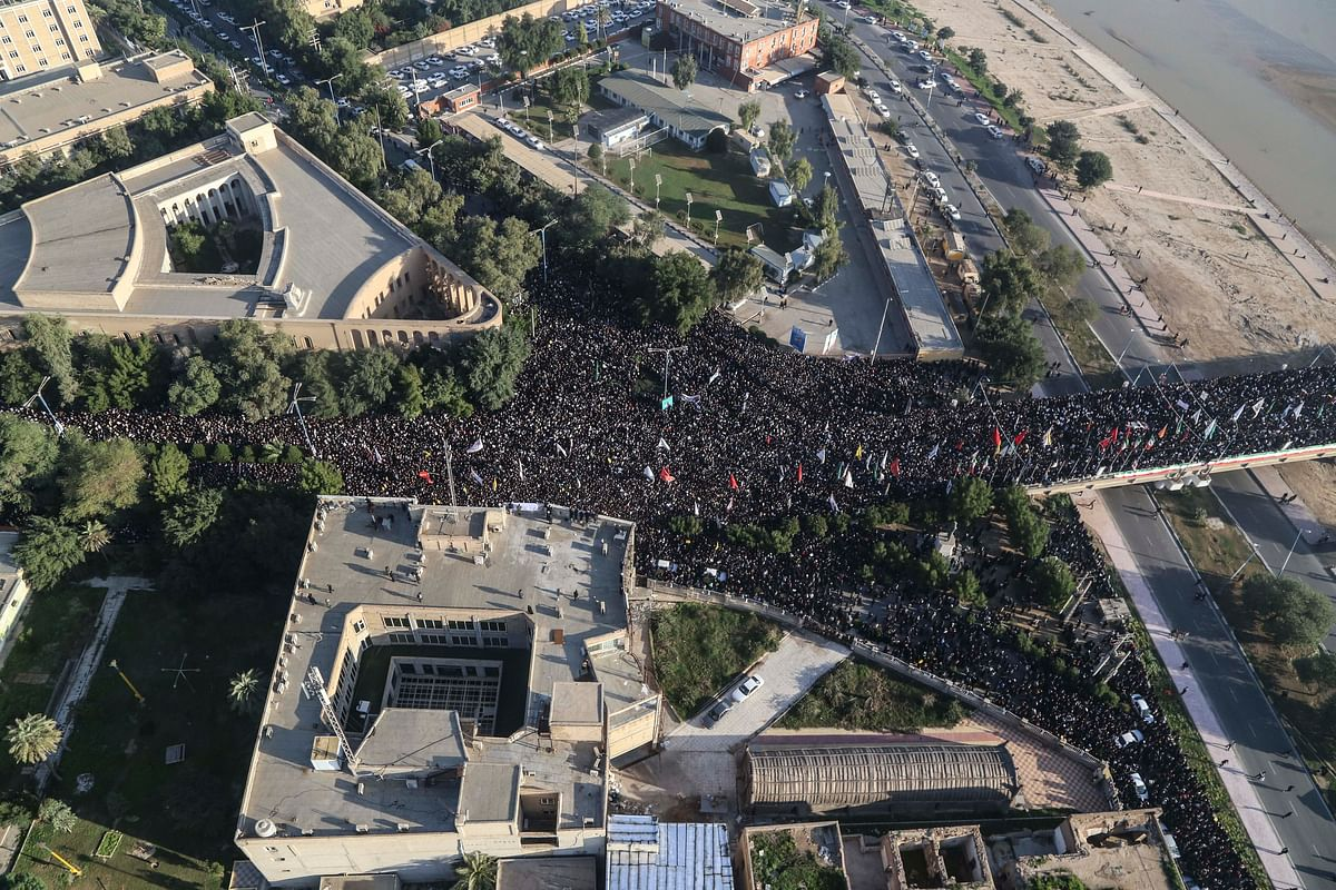 Thousands of mourners pack Tehran to grieve Iran general Soleimani, chant 'Death to America'