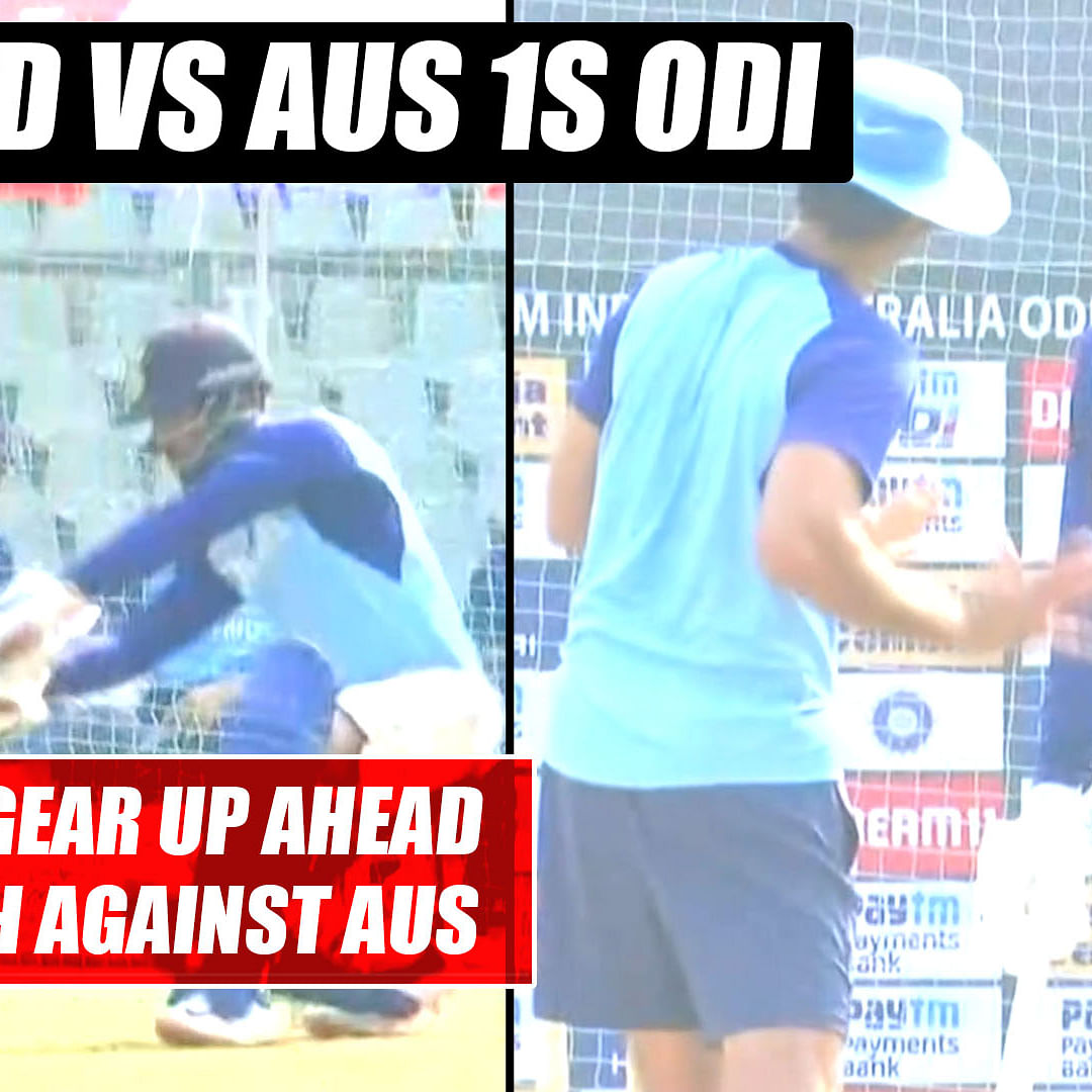 IND vs AUS: 'Men in Blue' gear up for 1st ODI match against Australia