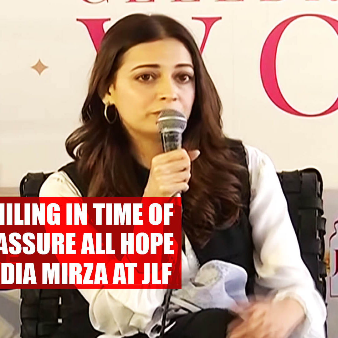 Children smiling in time of conflict reassure all hope is not lost: Dia Mirza at JLF