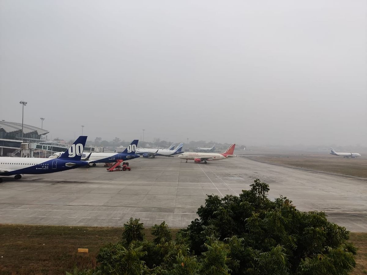 Indore: Low visibility affects several flights in foggy weather