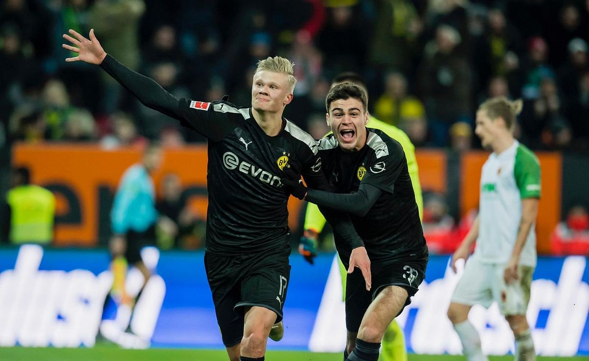 Teenage sensation Erling Haaland slams hat-trick on Bundesliga debut