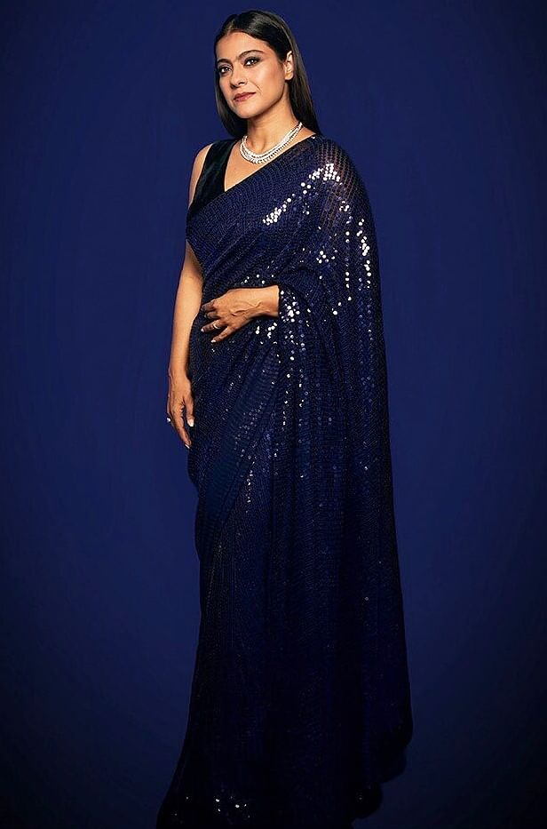 Deepika in Sabyasachi or Kajol in Manish Malhotra - who wore the blue sequined saree better?