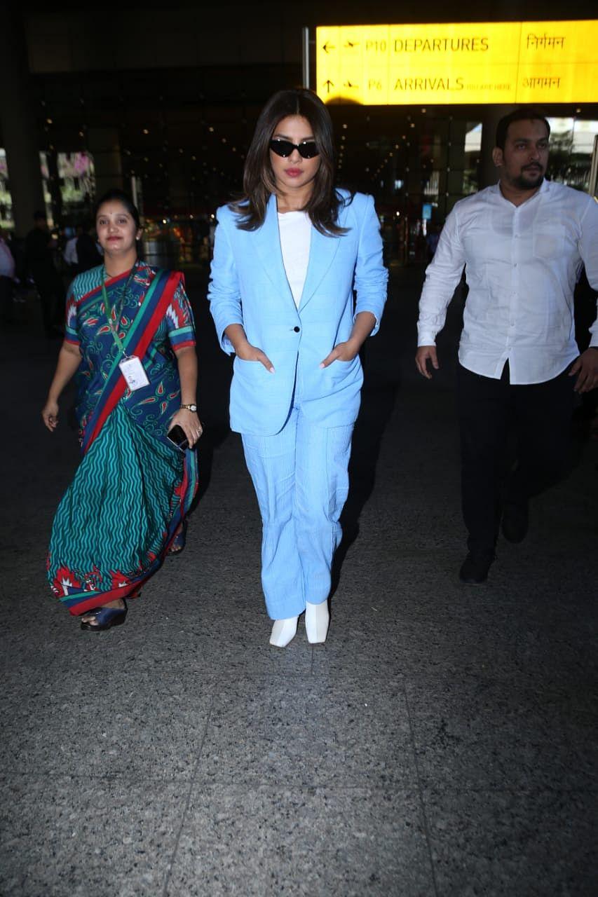 Priyanka Chopra gives major boss lady vibes in a sexy pantsuit