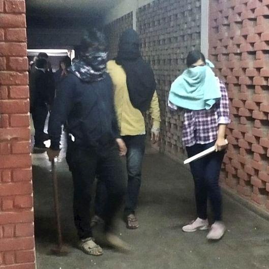 Taste of fascism: Hooliganism lesson for JNU, masked goons on the rampage