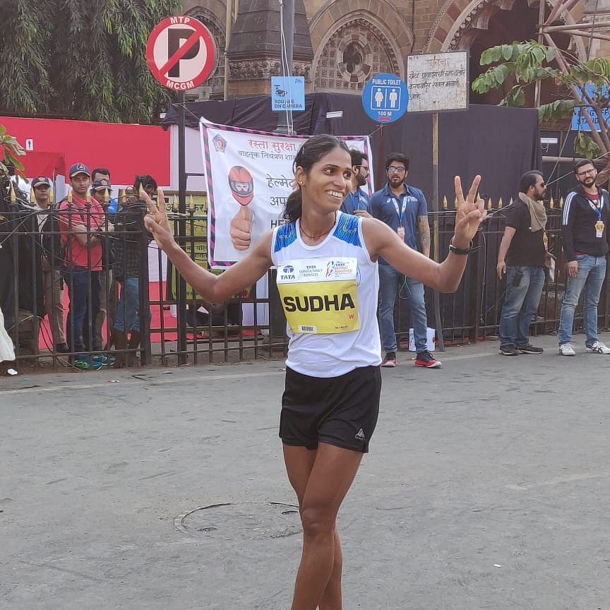 Sudha Singh completes her hat-trick at Mumbai Marathon 2020