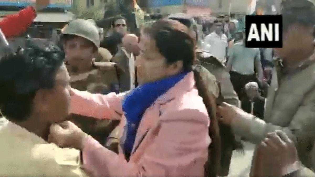 Video clips that later surfaced show District Collector Nidhi Nivedita slapping a man and additional collector Priya Verma taking on some men who were part of the crowd