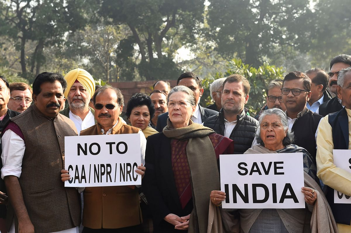 'Save India': Sonia Gandhi leads anti-CAA protest in Parliament ahead of Budget Session