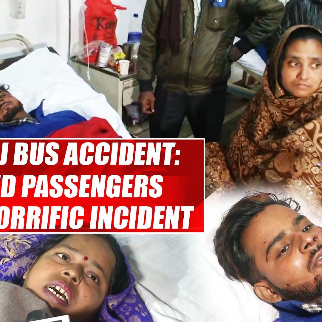Kannauj bus accident: Injured passengers recall horrific incident