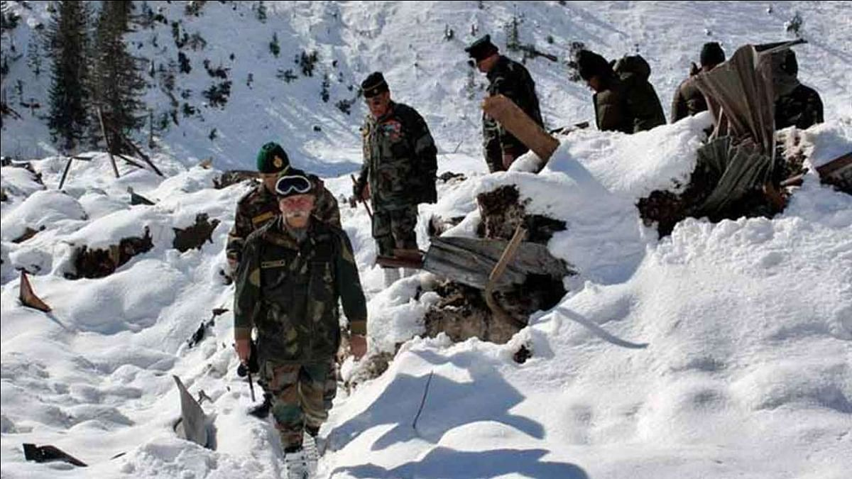 Indian army in winter