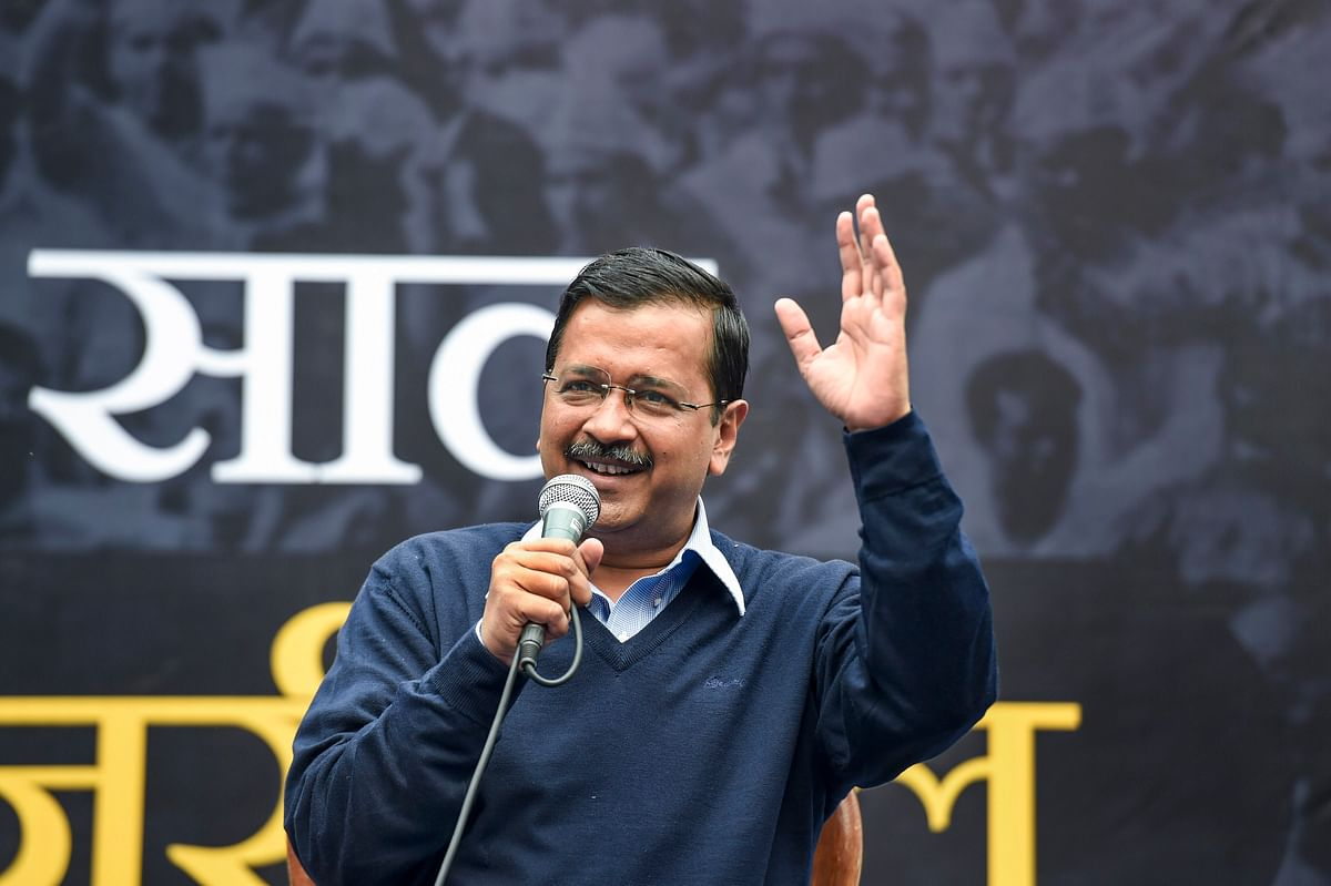 Press broom button hard so that AAP breaks 2015 record:  Arvind Kejriwal