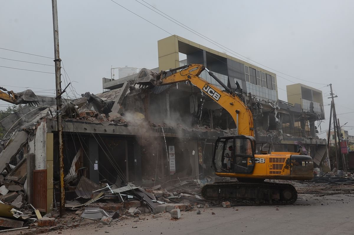 Indore: Another land shark's buildings razed under anti-mafia drive