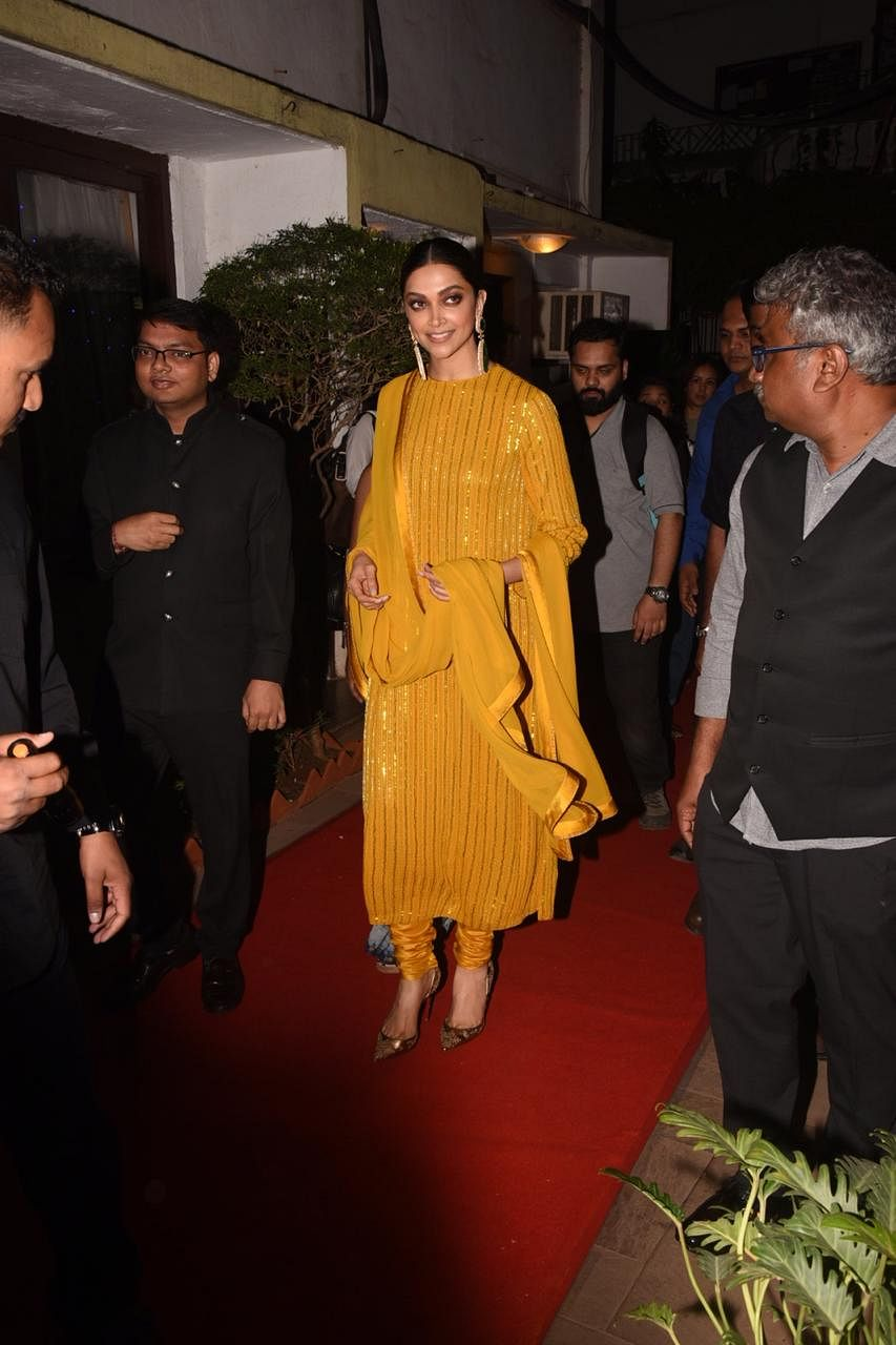 Deepika Padukone's bright yellow Sabyasachi outfit will drive away your Monday blues
