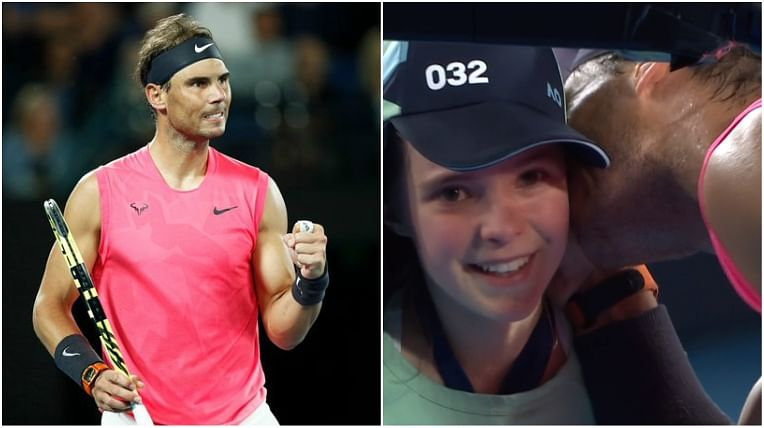 'The legend with a heart of gold': Twitter goes gaga over Rafael Nadal's gesture after hurting ball girl