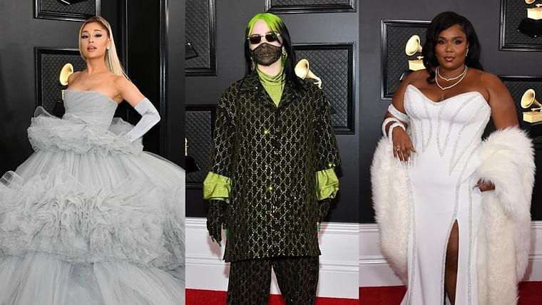 grammys 2020 ariana grande billie eilish lizzo and other celebs slay at the red carpet ariana grande billie eilish lizzo and