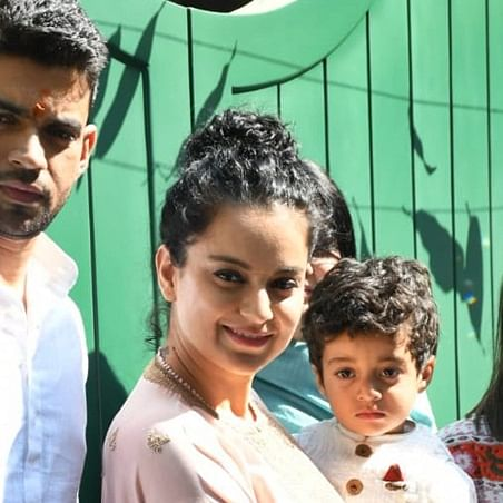 Kangana Ranaut inaugurates her production house Manikarnika Films with family