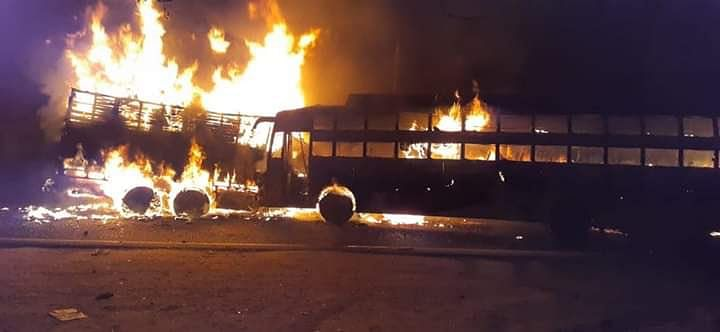 At least 25 feared to be burnt to death after private bus collides with truck