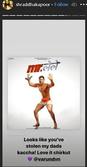 'You've stolen my dad's underwear': Shraddha Kapoor trolls Varun Dhawan's 'Mr. Lele' look