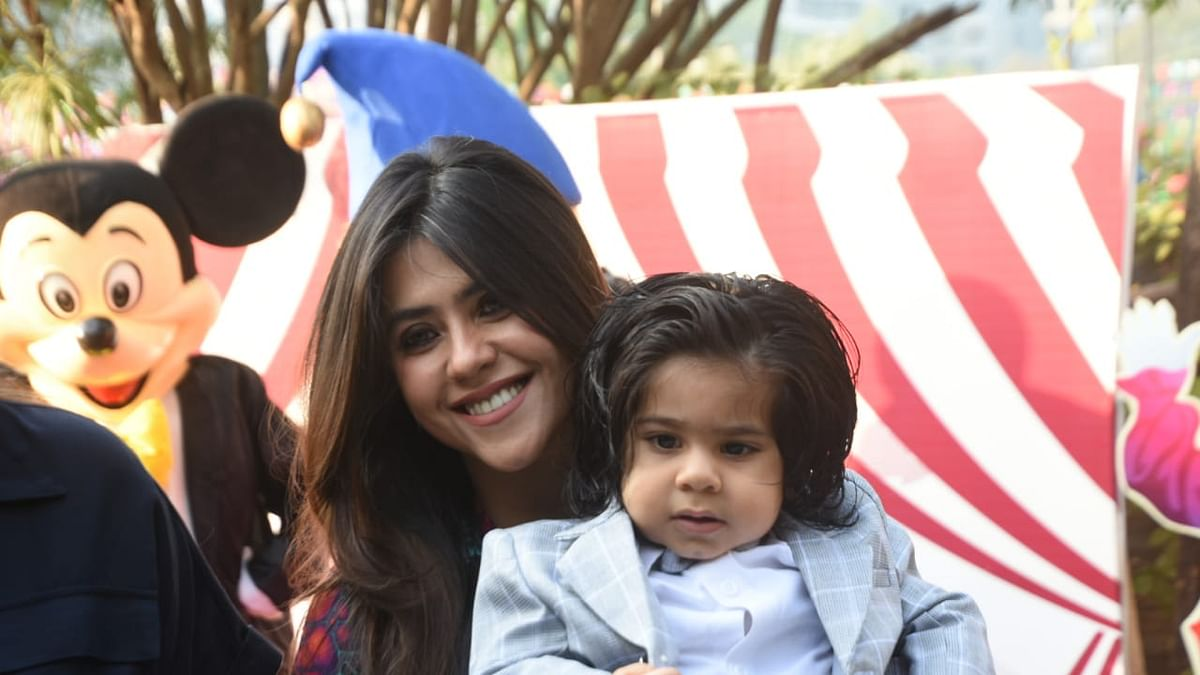 Ekta Kapoor reveals first look of her son Ravie on his first birthday