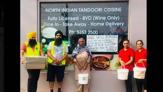 Indian eatery helps bushfire victims with free food