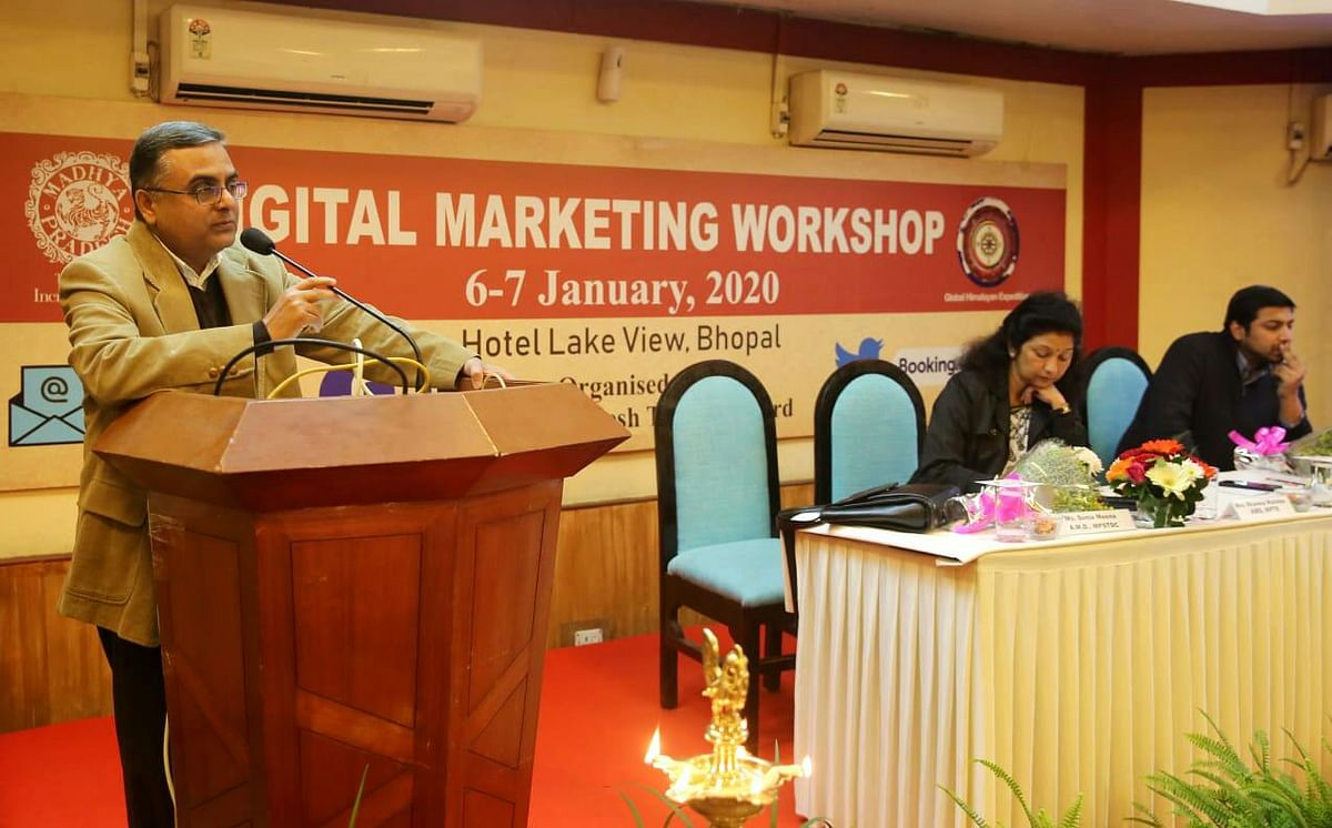 Madhya Pradesh tourism Board, in coordination with Global Himalayan Expedition, concludes a two-day workshop on digital marketing on Tuesday.