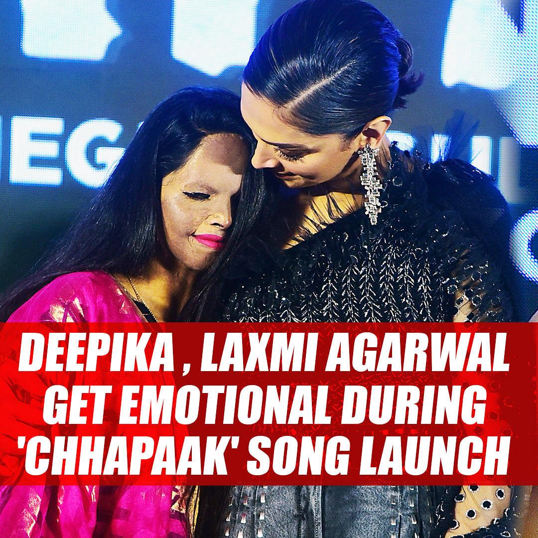 Deepika Padukone, Laxmi Agarwal get emotional during 'Chhapaak' title track launch