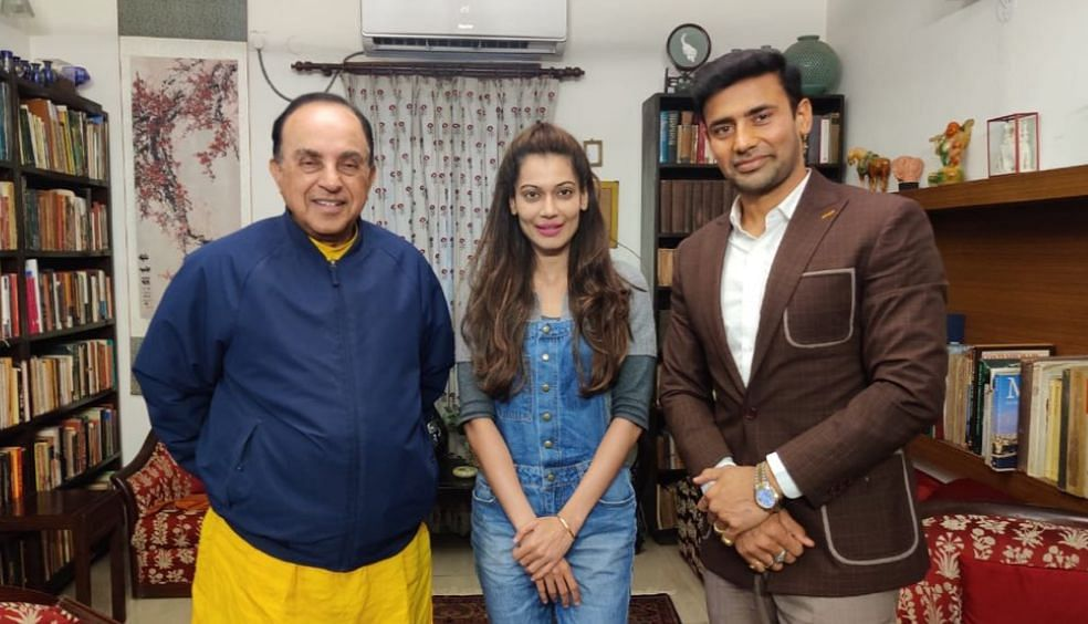 Payal Rohatgi has a fangirl moment after meeting Swamy, misspells his name