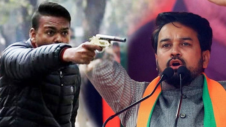 #ArrestAnuragThakur trends after man fires at Jamia Millia Islamia students