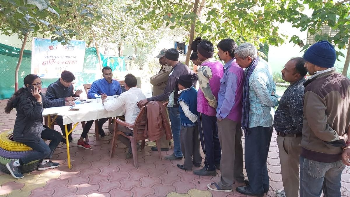 Medical checkup camp was organised at City Zoo for zoo staff for checking blood pressure, Sugar and Zoonotic diseases.