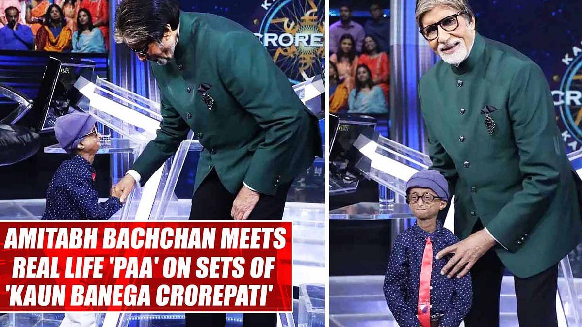 Real and reel life 'Paa': Amitabh Bachchan meets kid with progeria on sets of Kaun Banega Crorepati