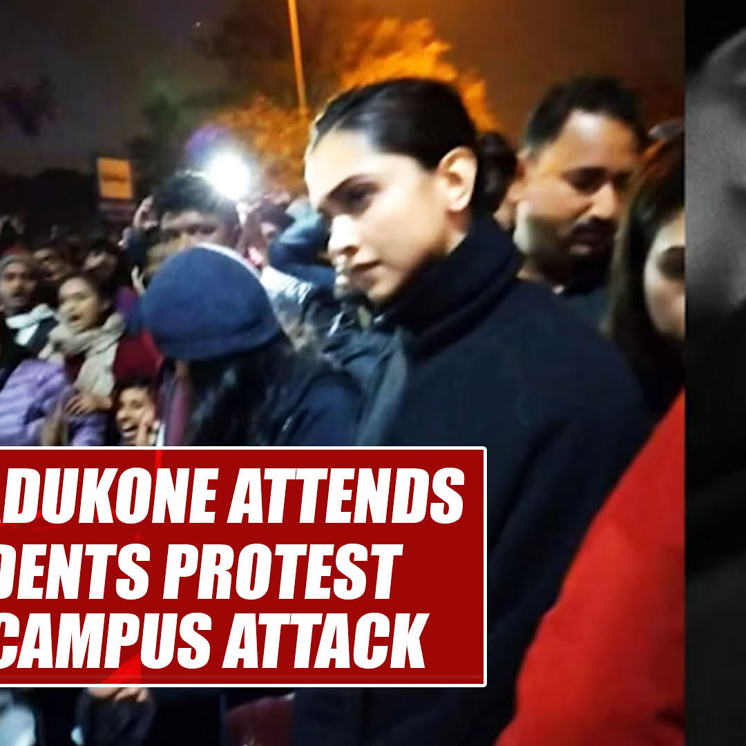 Deepika Padukone attends JNU students protest against campus attack